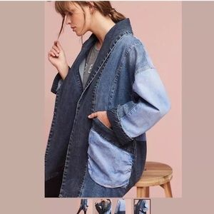 Anthropologie Pilcro Jadira Denim Kimono Jacket